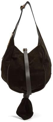 J.W.Anderson Knot Suede Hobo Bag - Womens - Black