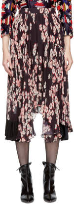 Isabel Marant Multicolor Floral Pleated Wilny Skirt