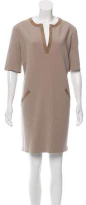 Ralph Lauren Wool Suede-Accented Dress w/ Tags