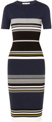 Diane von Furstenberg Striped Stretch-knit Midi Dress