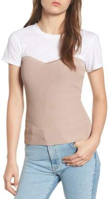 Trouve Trouv? Bustier Sweater Top