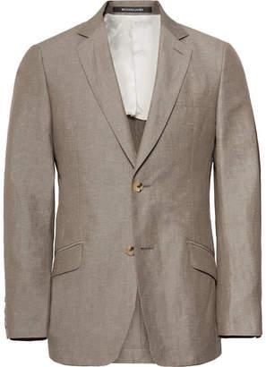 Richard James Mushroom Seishin Slim-Fit Slub Linen And Cotton-Blend Suit Jacket
