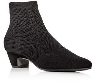 Eileen Fisher Women's Purl Knit Low-Heel Booties