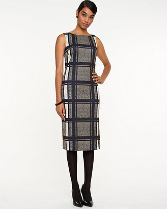 Le Château Check Ponte Shift Dress