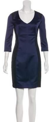 Just Cavalli Long Sleeve Mini Dress w/ Tags Navy Long Sleeve Mini Dress w/ Tags