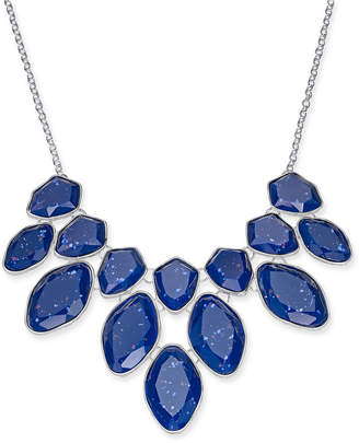 """Style&Co. Style & Co Multi-Stone Statement Necklace, 18"""" + 3"""" extender"""