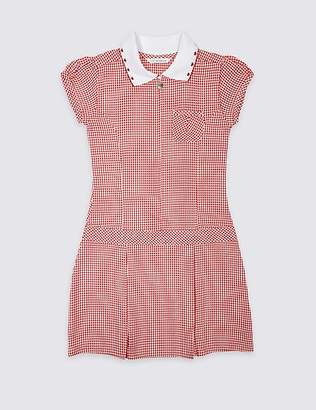 Marks and Spencer Girls' Gingham Pleated Dress