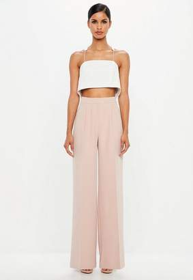 Missguided Wide Leg Crepe Pants