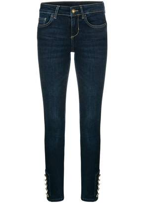 Liu Jo button ankle skinny jeans