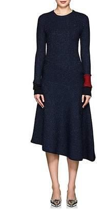 Cédric Charlier Women's Metallic Cable-Knit Midi-Dress - Navy