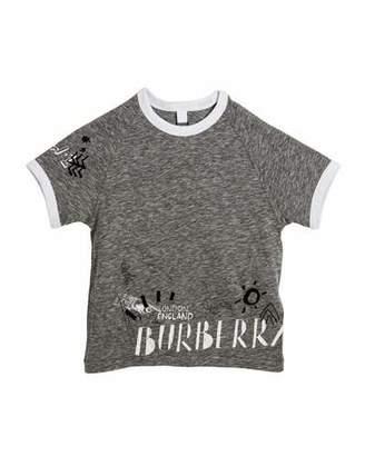 Burberry Patrick Graphic Raglan T-Shirt, Size 4-14