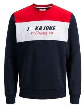 Jack and Jones Colourblock Cotton Sweatshirt