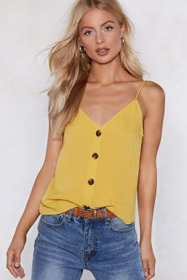 Nasty Gal Get Button the Floor Cami Top
