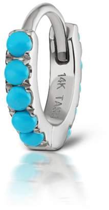 Maria Tash 6.5mm Turquoise Eternity Ring Single Earring - White Gold