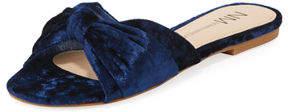 Neiman Marcus Sail Crushed Velvet Knotted Slide Sandal