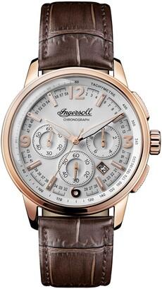 Ingersoll Regent Chronograph Leather Strap Watch, 47mm