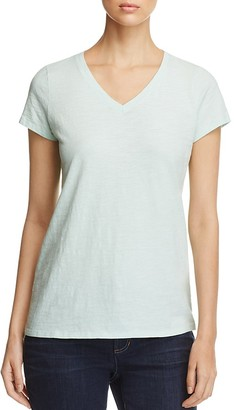Eileen Fisher V-Neck Short Sleeve Tee $78 thestylecure.com
