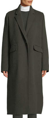 Vince Single-Button Wool Long Coat