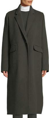 Vince Single-Button Wool Long Coat