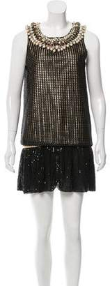 Manish Arora Metallic Embellished Dress