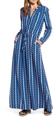 THE ODELLS Long Sleeve Button Maxi Dress