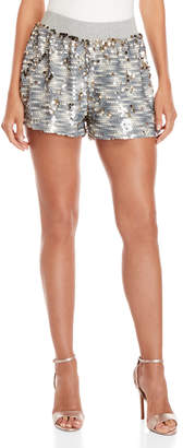 Bishop + Young Silver Sequin Shorts