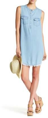 Splendid Raw Fringe Sleeveless Dress