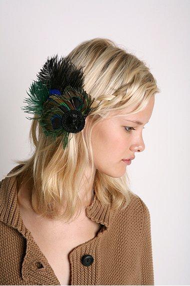 Crystal Plumage Hair Clip
