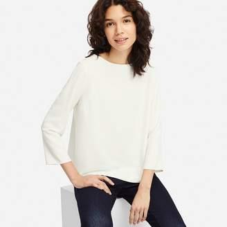 Uniqlo WOMEN Drape 3/4 Sleeve T-shirt Blouse