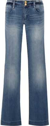 MICHAEL Michael Kors - Mid-rise Flared Jeans - Blue $135 thestylecure.com