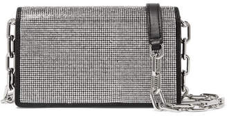 Alexander Wang Attica Crystal-embellished Leather Shoulder Bag - Silver