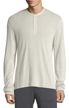 Vince Men's Thermal Cotton Henley Shirt