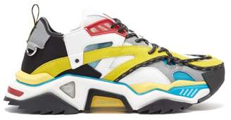 Calvin Klein Strike 205 Leather And Mesh Trainers - Mens - Multi