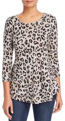 Bobeau B Collection by Leopard Print Tunic Sweater