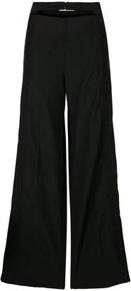 Valentino double waistband pleated trousers