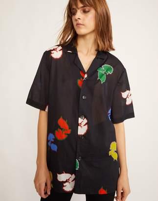 Cynthia Rowley Rainbow Poppy Getaway Cabana Shirt