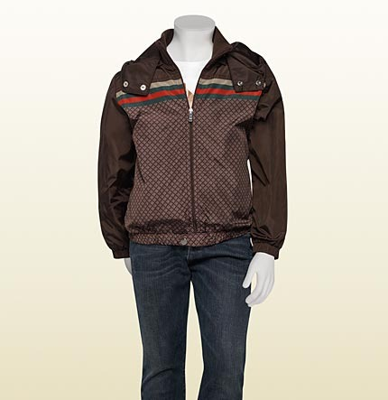 Gucci Hooded Zip-Up Bomber.