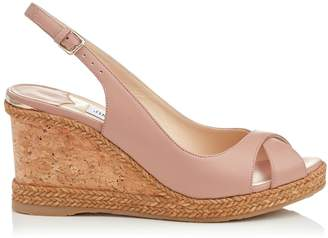 Jimmy Choo Amely 80 Leather Wedges