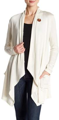 Bobeau One-Button Cardigan