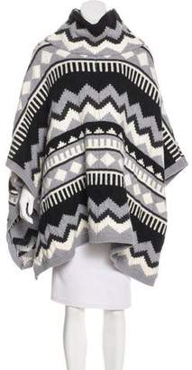 Temperley London Wool Patterned Poncho