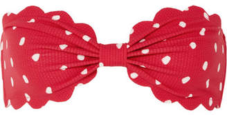 Marysia Swim Antibe Scalloped Printed Bandeau Bikini Top - Red