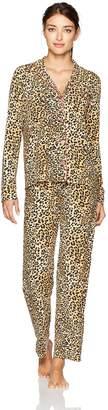PJ Salvage Women's Modal Fashion Print 2PC Set, Leo Nights-Tan, S
