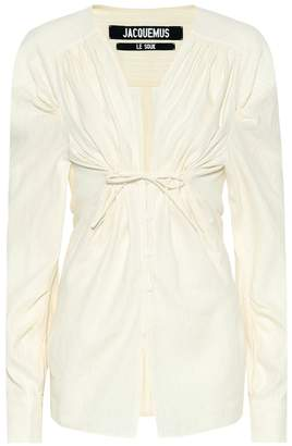 Jacquemus Zohra linen and cotton shirt
