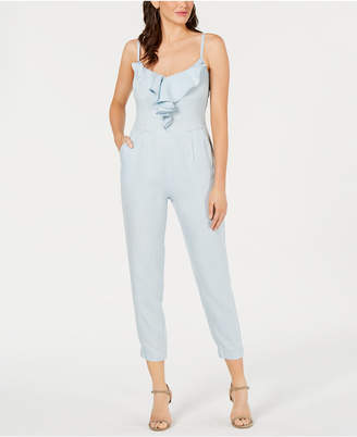 GUESS Ruffled Shirred Jumpsuit
