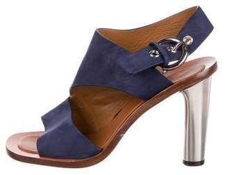 Celine Suede Slingback Sandals