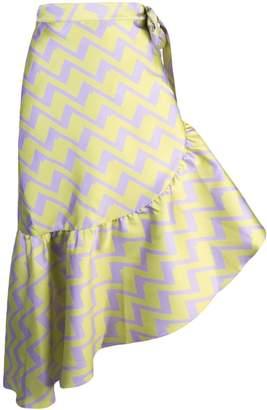 Cynthia Rowley Evanston zigzag print skirt