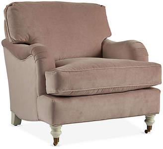 At One Kings Lane · Robin Bruce Brooke Club Chair   Mauve Velvet