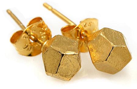 Tracy Matthews Gold Nugget Studs