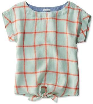L.L. Bean L.L.Bean Signature Short-Sleeve Linen Top