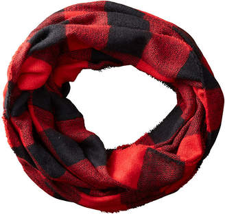 Buffalo David Bitton TICKLED PINK Tickled Pink Infinity Checked Scarf